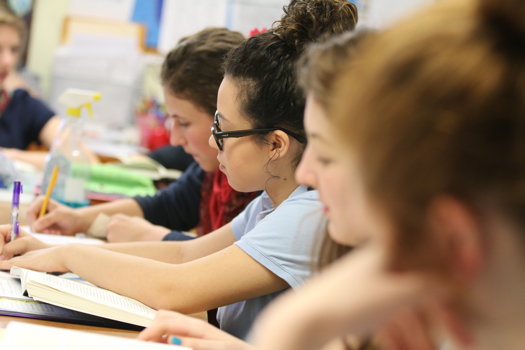 Students take Test at Classical Christian School