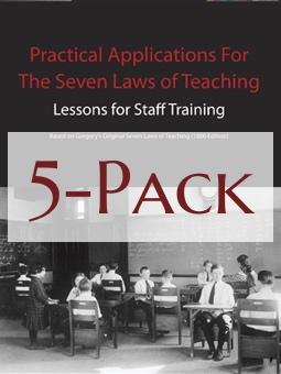 Seven Laws of Teaching Workbook 5-Pack Image