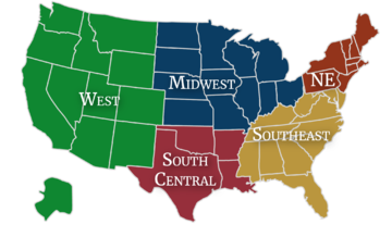 Map Regions Association of Classical Christian Schools (ACCS)